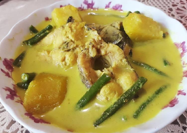 Resep Gulai ikan gabus campur kacang panjang &labu kuning