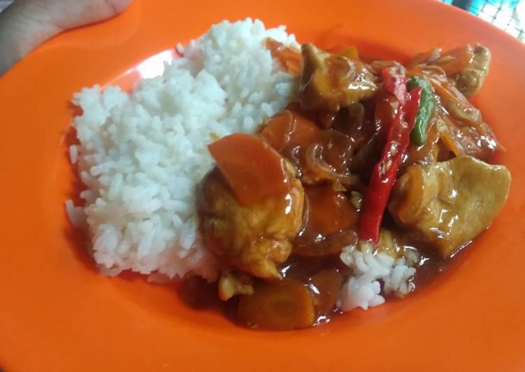 Resep Nasi Ayam Wortel Teriyaki
