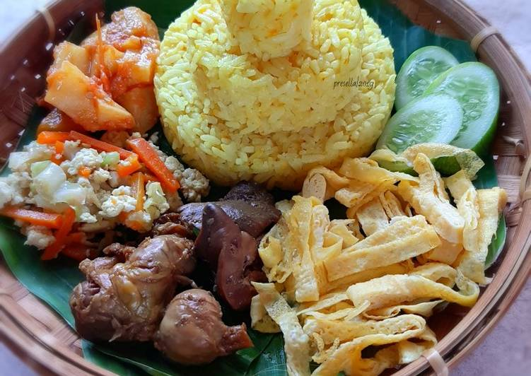 Resep Tumpeng nasi kuning magicom dengan fibercream