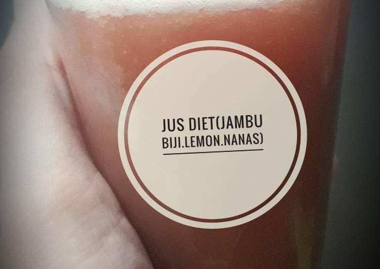 Resep Jus diet(jambu biji.lemon.nanas)