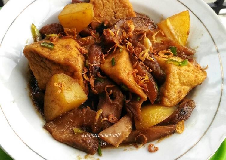 Resep Jamur shitake & tahu masak kecap