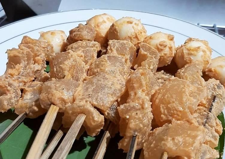 Resep Sate Kikil (+ telur puyuh) Khas Jepara