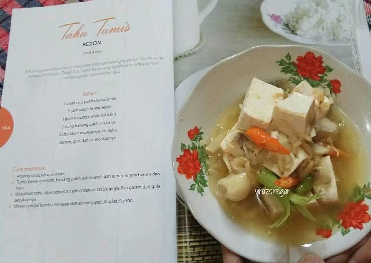 Resep Tahu Tumis Rebon (ala Home Cooking Xanderkitchen )