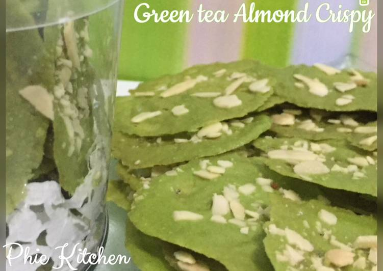 Resep Green tea Almond Crispy