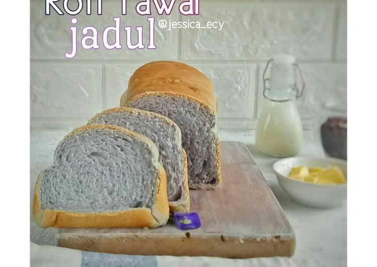 Resep Roti Tawar Bunga Telang (Open Lid)