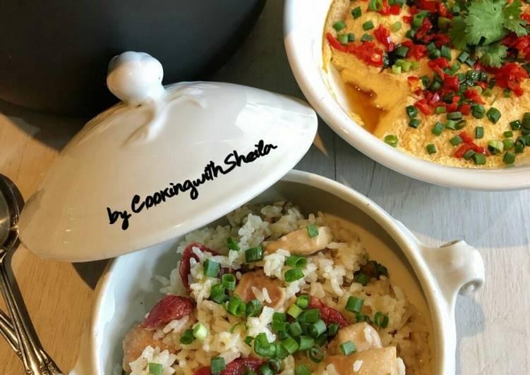 Resep Chicken and Sausage Rice Claypot