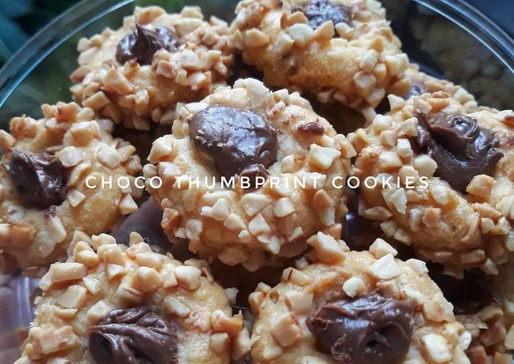 Resep Choco Peanut Thumbprint Cookies (Step by Step)