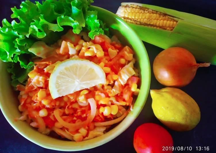 Resep Salad sayuran dengan saus thousand island