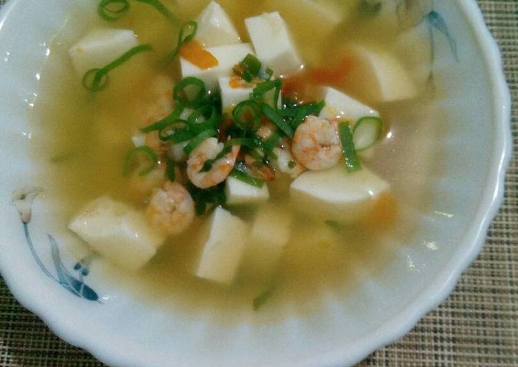 Resep Sup Udang Putih Telur