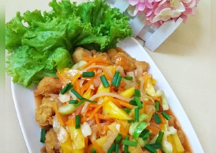 Resep Ayam asam-manis