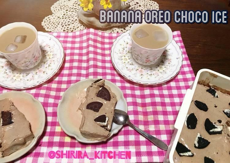 Resep Banana Oreo choco ice cake (gampang)