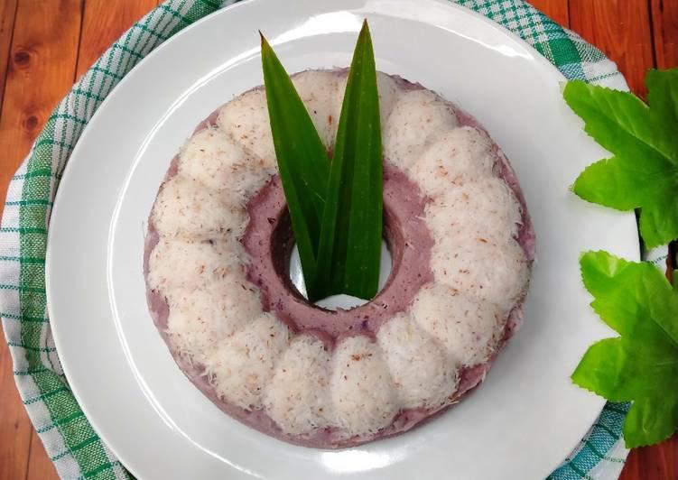 Resep Kue putu ayu ubi ungu