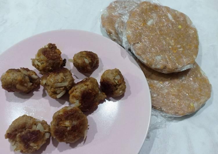 Resep Frozen meatball / beef patty