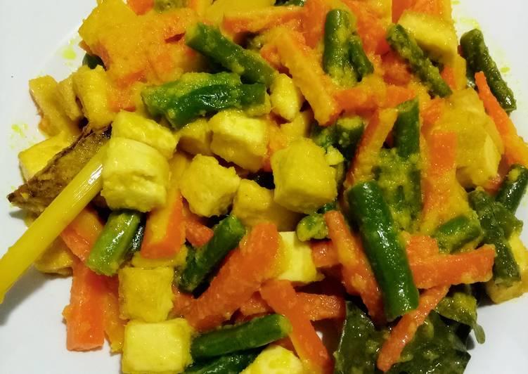 Resep Tumis buncis wortel bumbu kuning