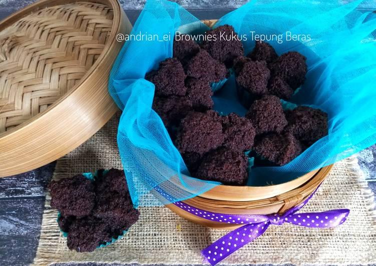 Resep Brownies Kukus Tepung Beras (Gluten Free, Eggless, No Mixer)