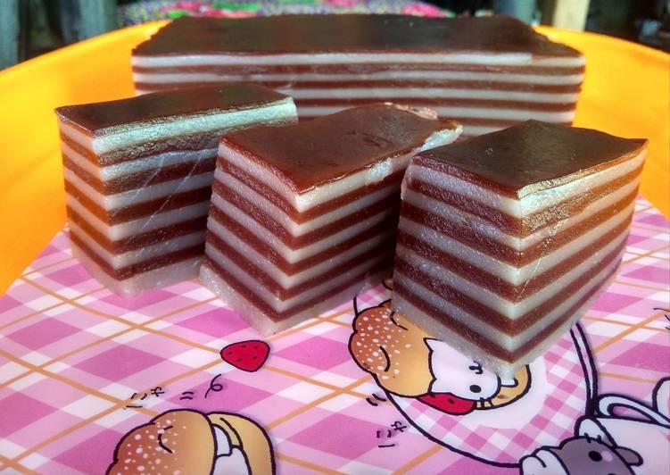 Resep Lapis sagu coklat