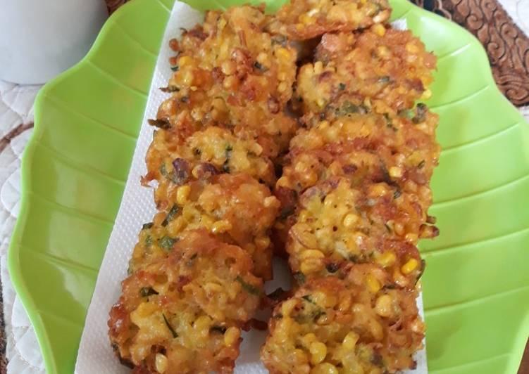Resep Perkedel jagung crispy
