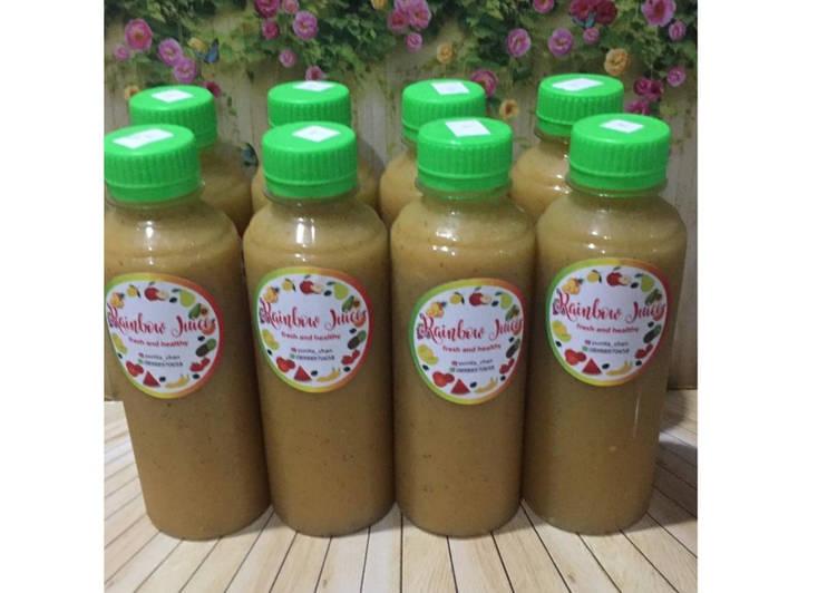 Resep Diet Juice Mango Tomato Zucchini Passion Fruit