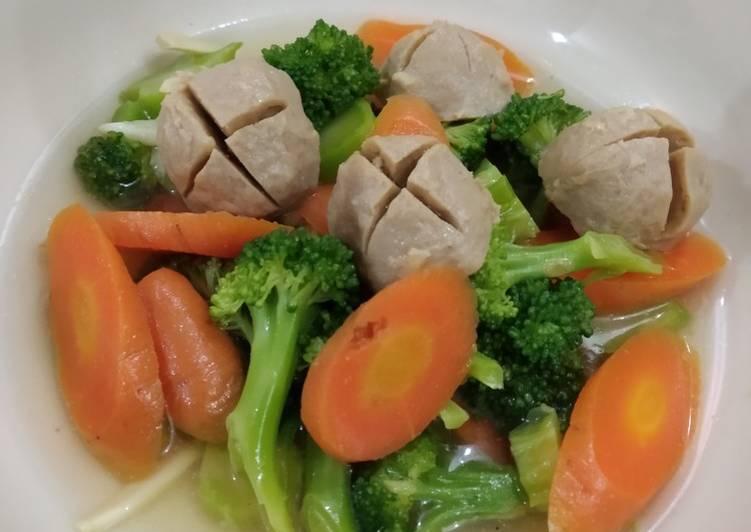 Resep 1Sop Bakso Brokoli