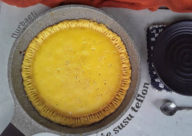 Resep Pie susu teflon
