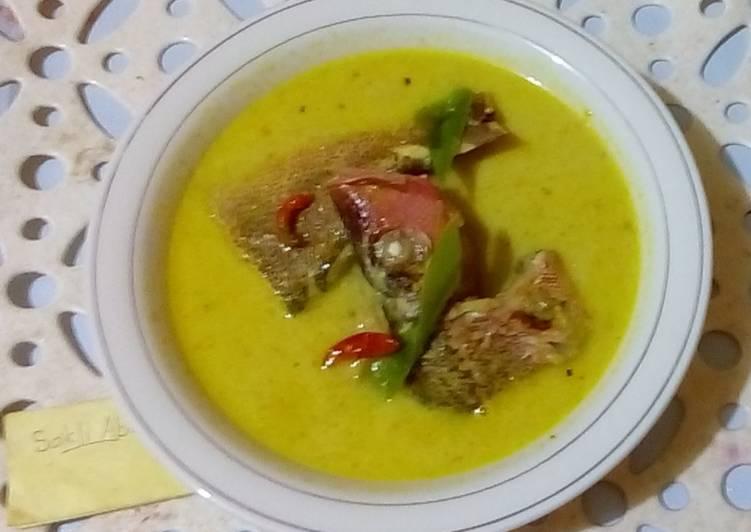 Resep Gulai ikan kakap segar (praktis)