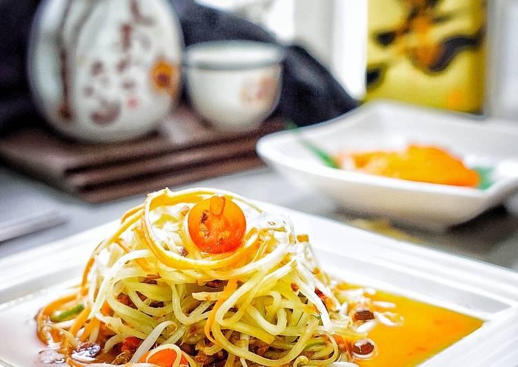 Resep #37.SOM TUM (Thai green papaya salad)