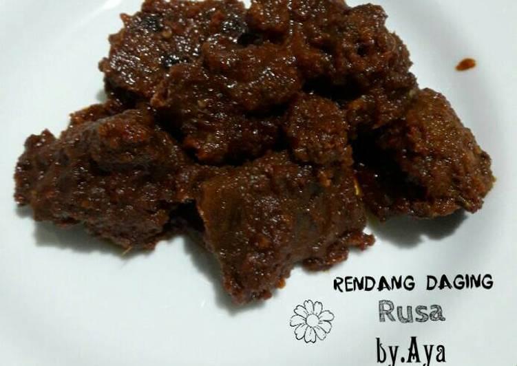Resep Rendang Daging Rusa