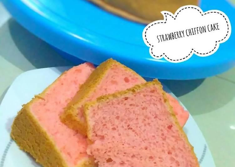 Resep Strawberry Chiffon Cake