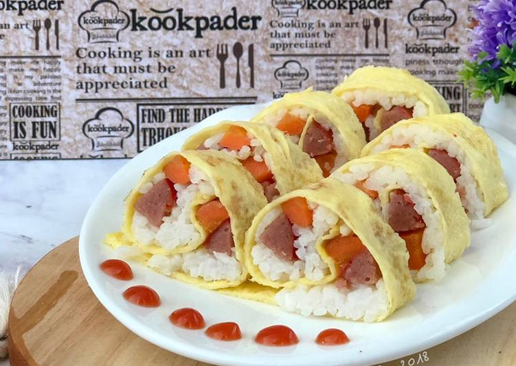 Resep Rice Egg Roll