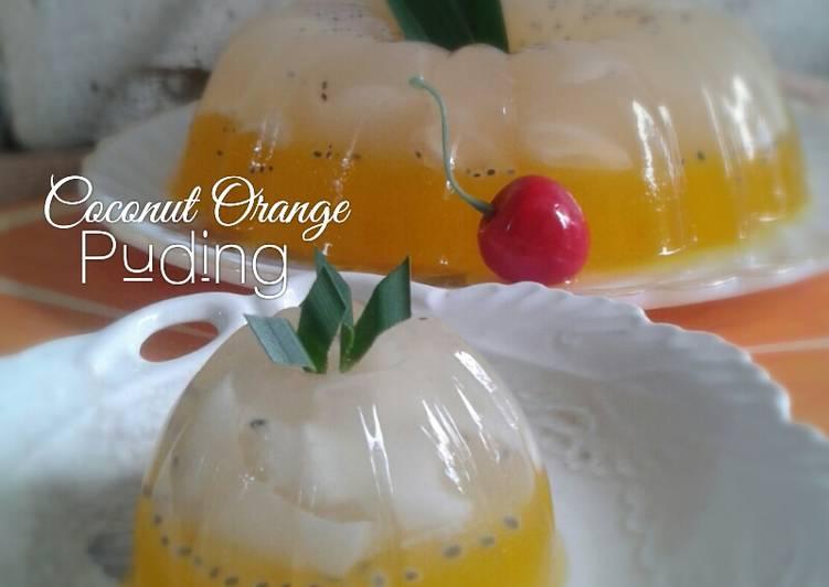 Resep Coconut Orange Puding