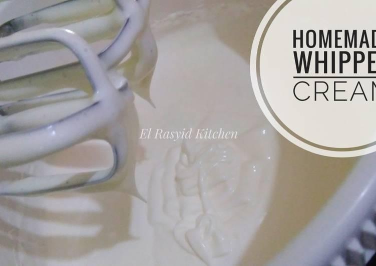 Resep Homemade Whipped Cream