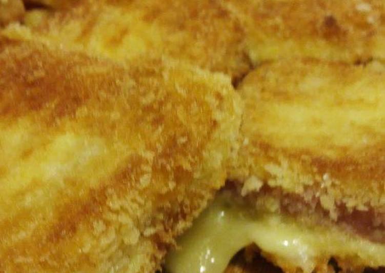 Resep Sandwich goreng isi kornet