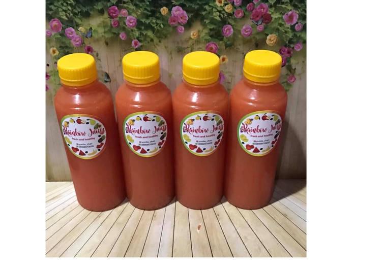 Resep Diet Juice Papaya Apple Carrot Lime Raspberry