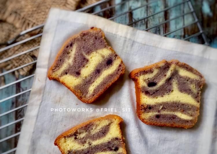 Resep Marble cake - ubi ungu