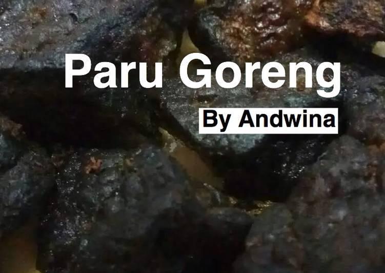 Resep Paru Goreng (Manis)