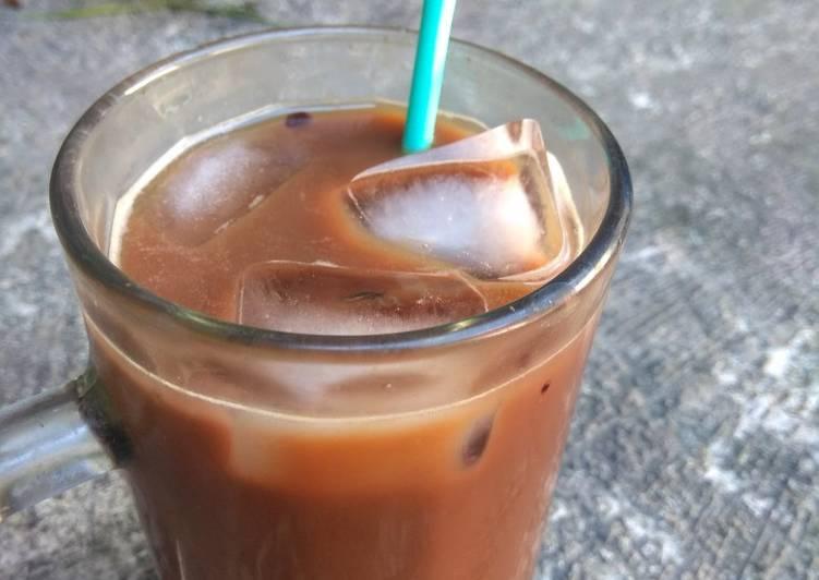Resep Iced choco coffee