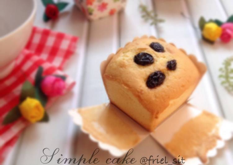 Resep Simple sponge cake, recommended highly