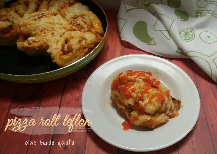 Resep Pizza roll teflon eggless