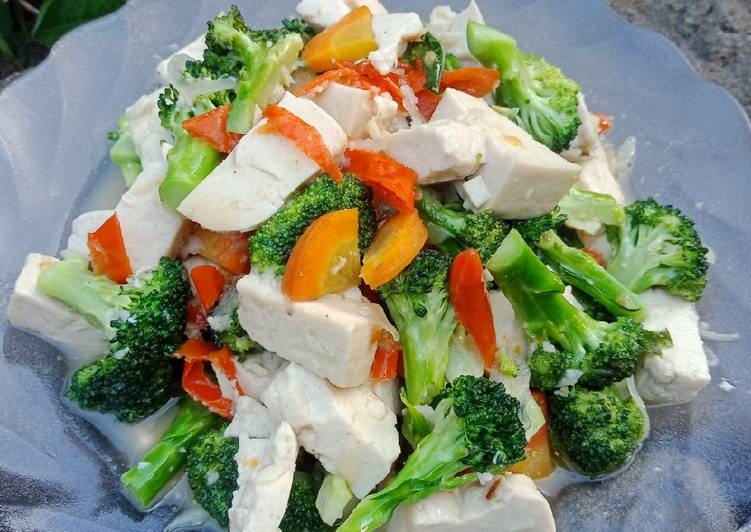Resep Tumis Brokoli + Tahu Putih