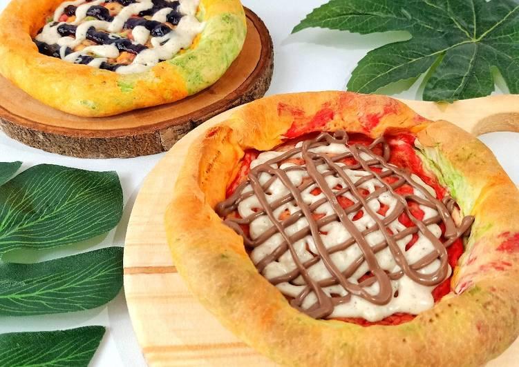 Resep Sweet Rainbow Pizza