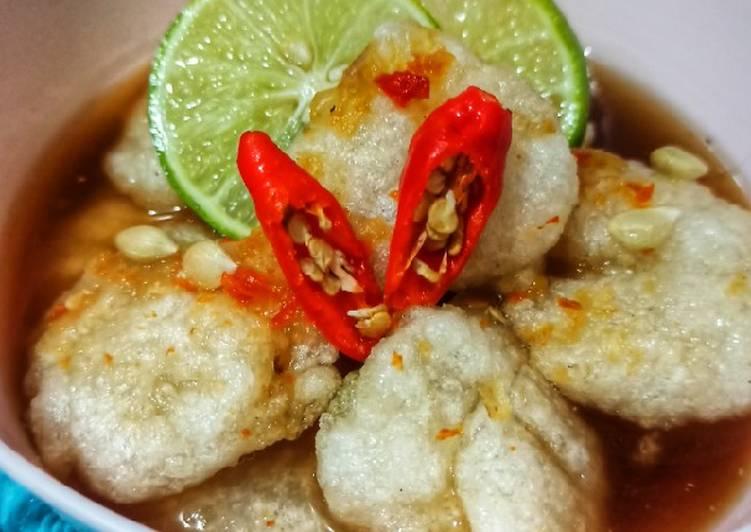 Resep Cireng Kuah / Cireng Banyur (Takaran Sendok)