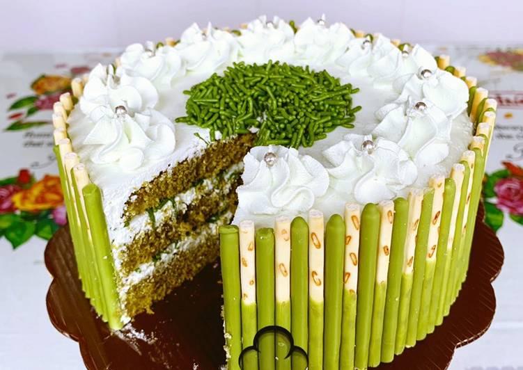 Resep Matcha-Honey Pocky Cake