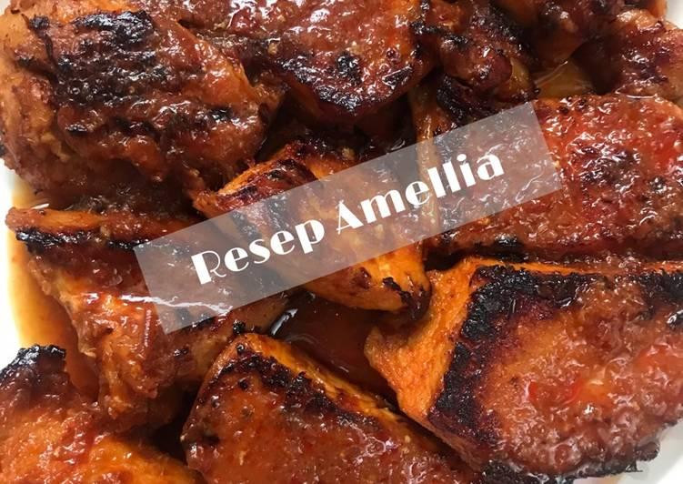 Resep Ayam panggang (teflon) bumbu rujak