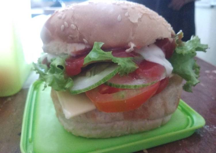 Resep Beef Burger Simple