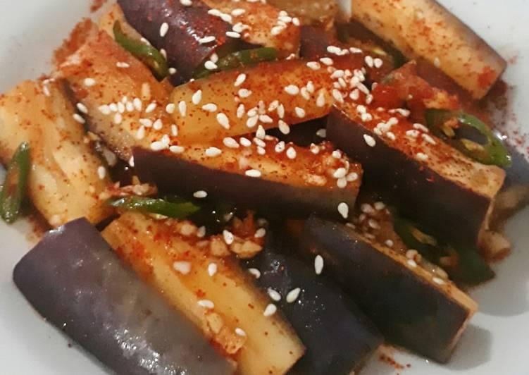 Resep Gaji Namul (Salad Terong Korea)