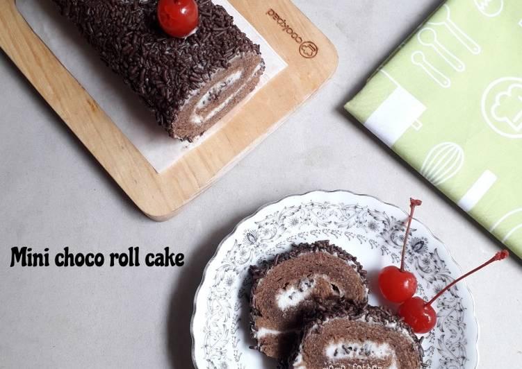 Resep Mini choco roll cake