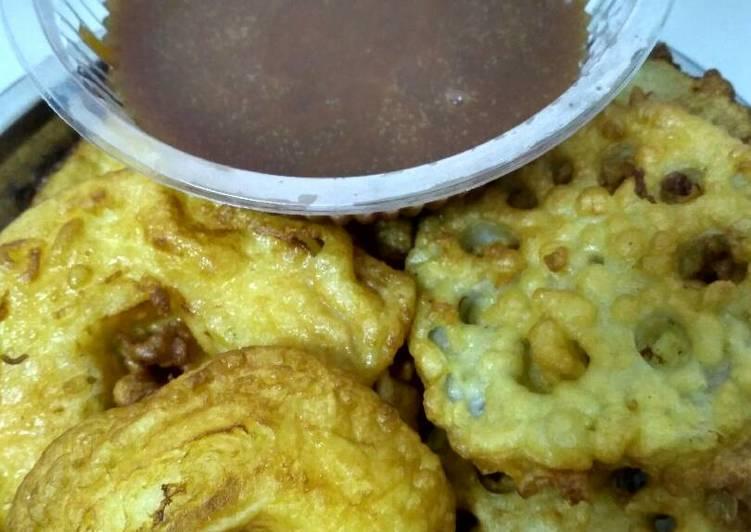 Resep Rc : Akar Lotus & Apel Goreng Saus Karamel Yummy