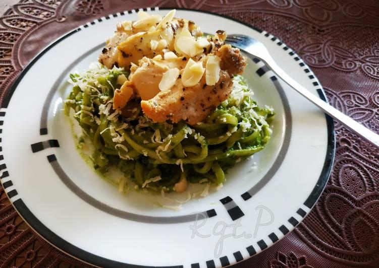 Resep Pesto Fettuccini with chicken breast