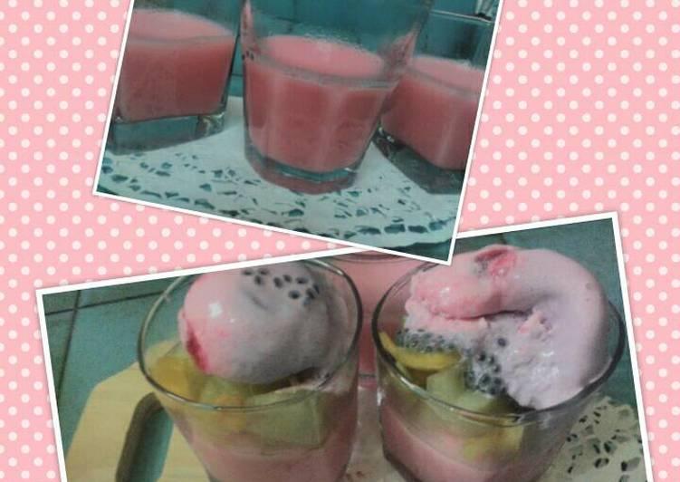 Resep Puding Buah Ice Cream
