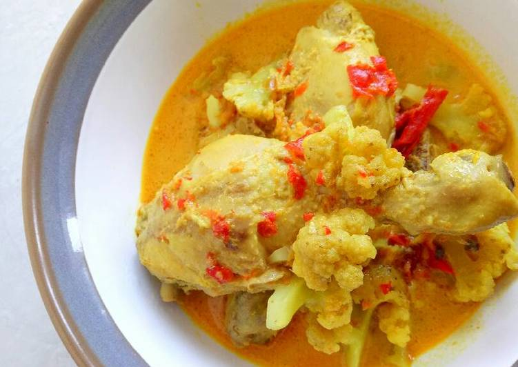 Resep Kalio ayam kembangkol